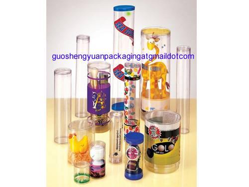 custom pvc round cylinder gift box