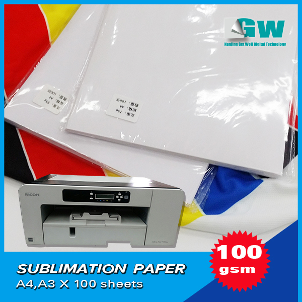 China factory supply top quality sublimation transfer paper for high speed printers