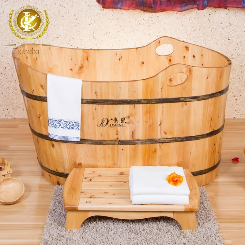 Cedar bathtub massage tub wooden shower tub