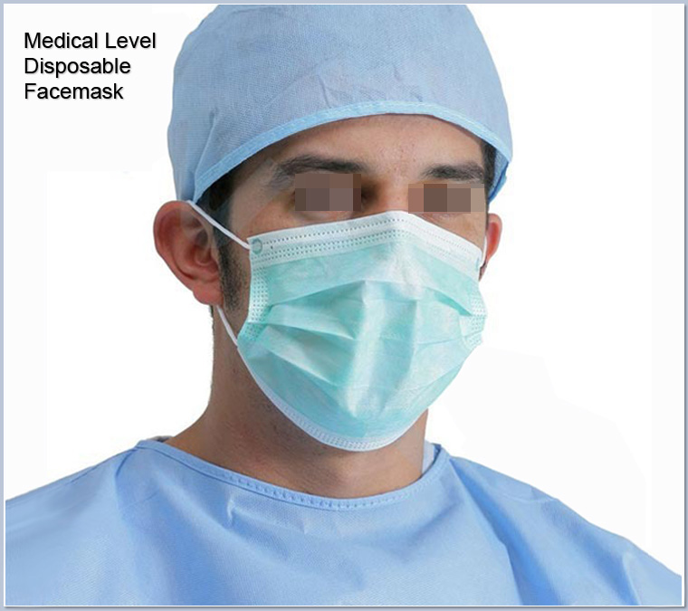 Quality-proved 3 ply Medical disposable facemasks earloop in bulk nonwoven anti coronavirus