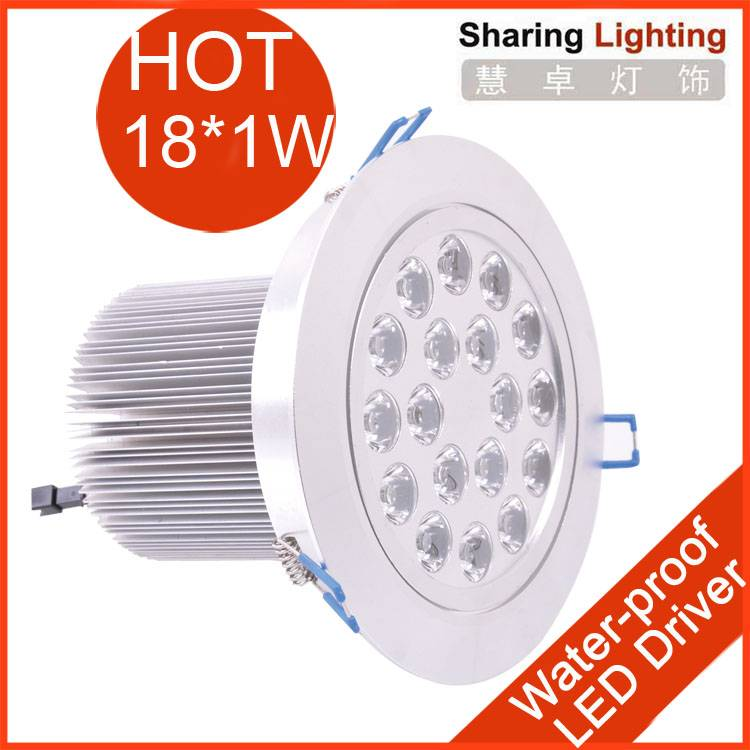 new 18W high power led down light,led recessed downlights,ceiling lighting