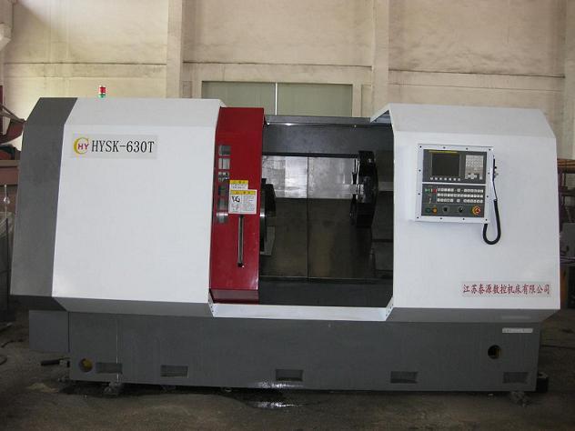 CNC oil pipe coupling threading machine