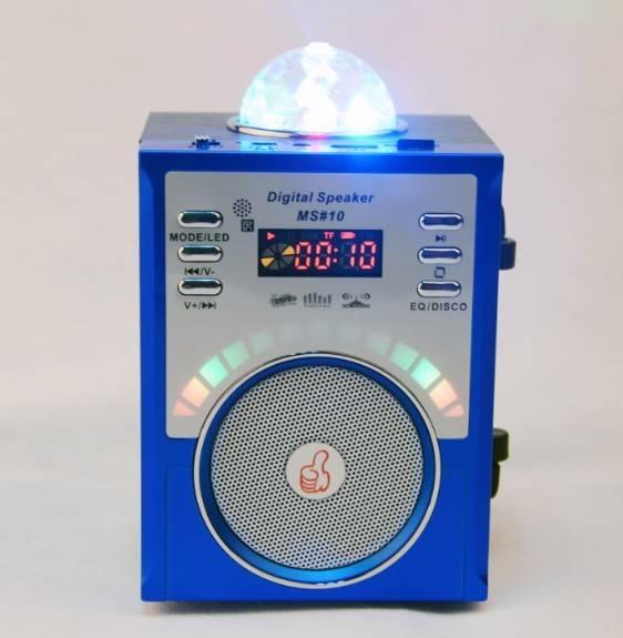 MS#10 Led Light speaker Remote control Wooden Boom Box speaker