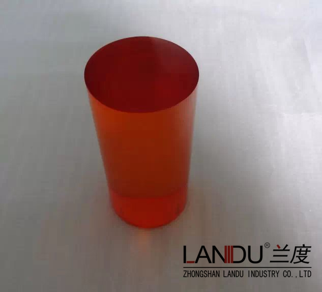 High quality different size orange acrylic round rods acrylic round bars acrylic round sticks