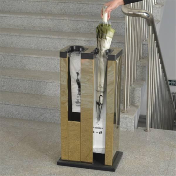 umbrella bag dispenser for hotel lobby and restaurant equipment