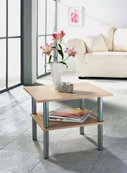 Supply with steel, wooden and glass furniture