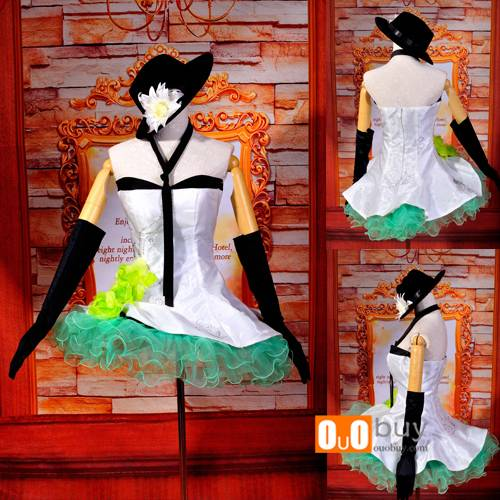 Selling Vocaloid 2 GuMi White Dress Cosplay Costume