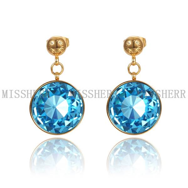 Hot selling jewelry big round drop earrings