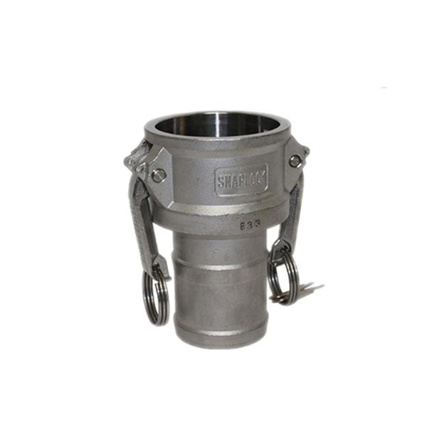 Camlock coupler with hose stem type C