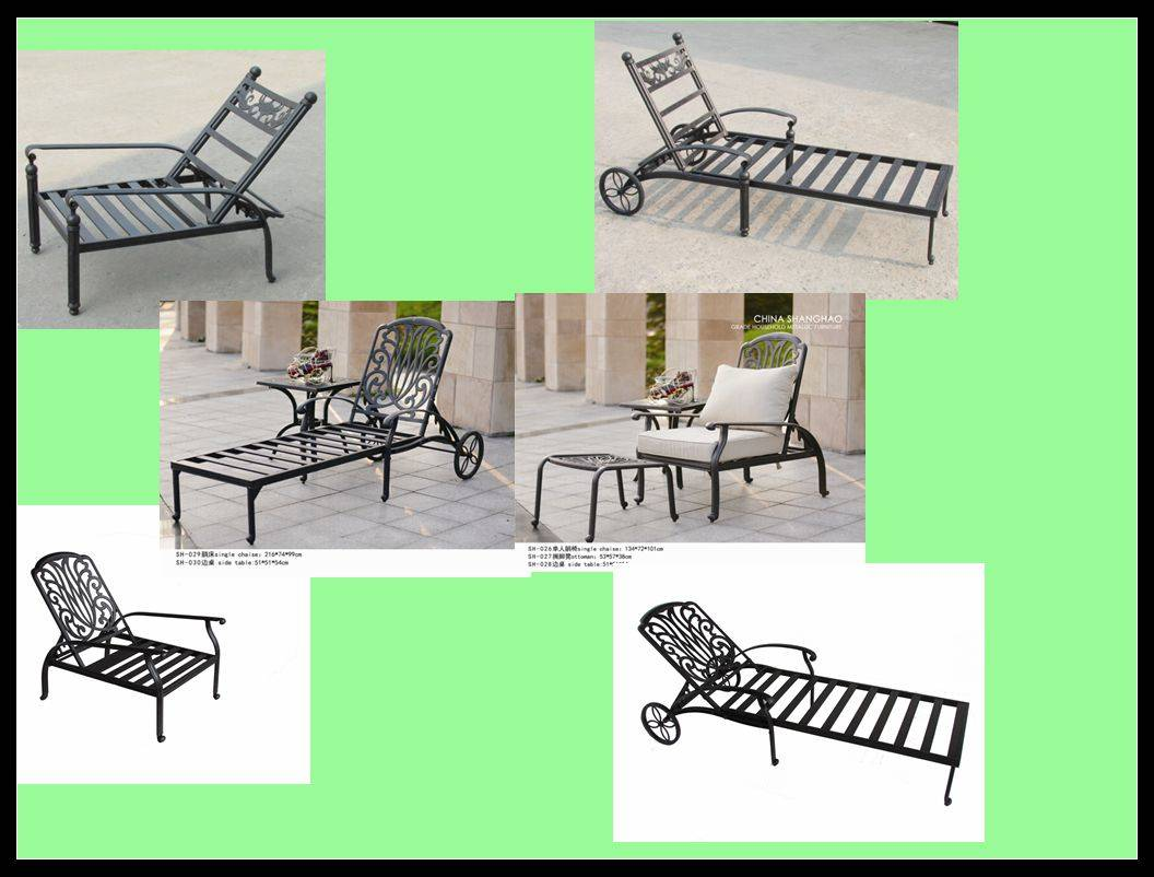 Hot Outdoor Cast Aluminium Sling Chair