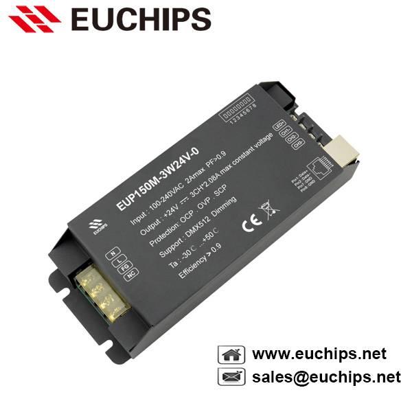 150W 24VDC Constant Voltage DMX Dimmable LED Driver EUP150M-3W24V-0