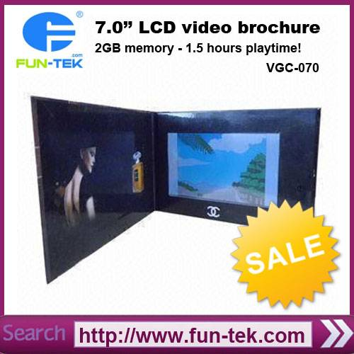 7 inch Video Greeting Card Video Brochure VGC-070