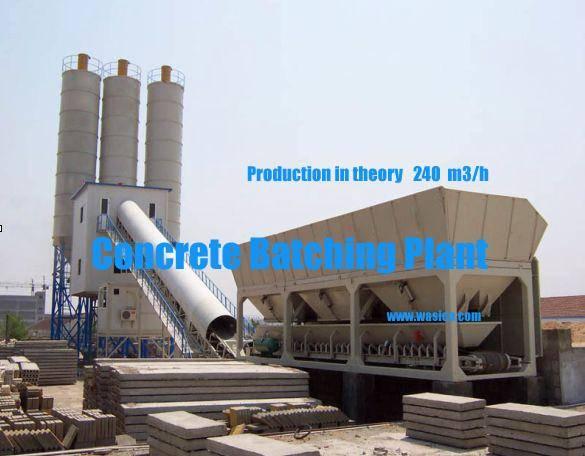 concrete batching plant 240m3/h