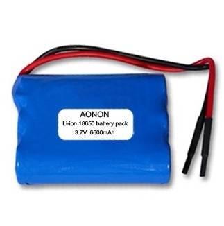 3.7V 6600mAh li-ion 18650 battery pack