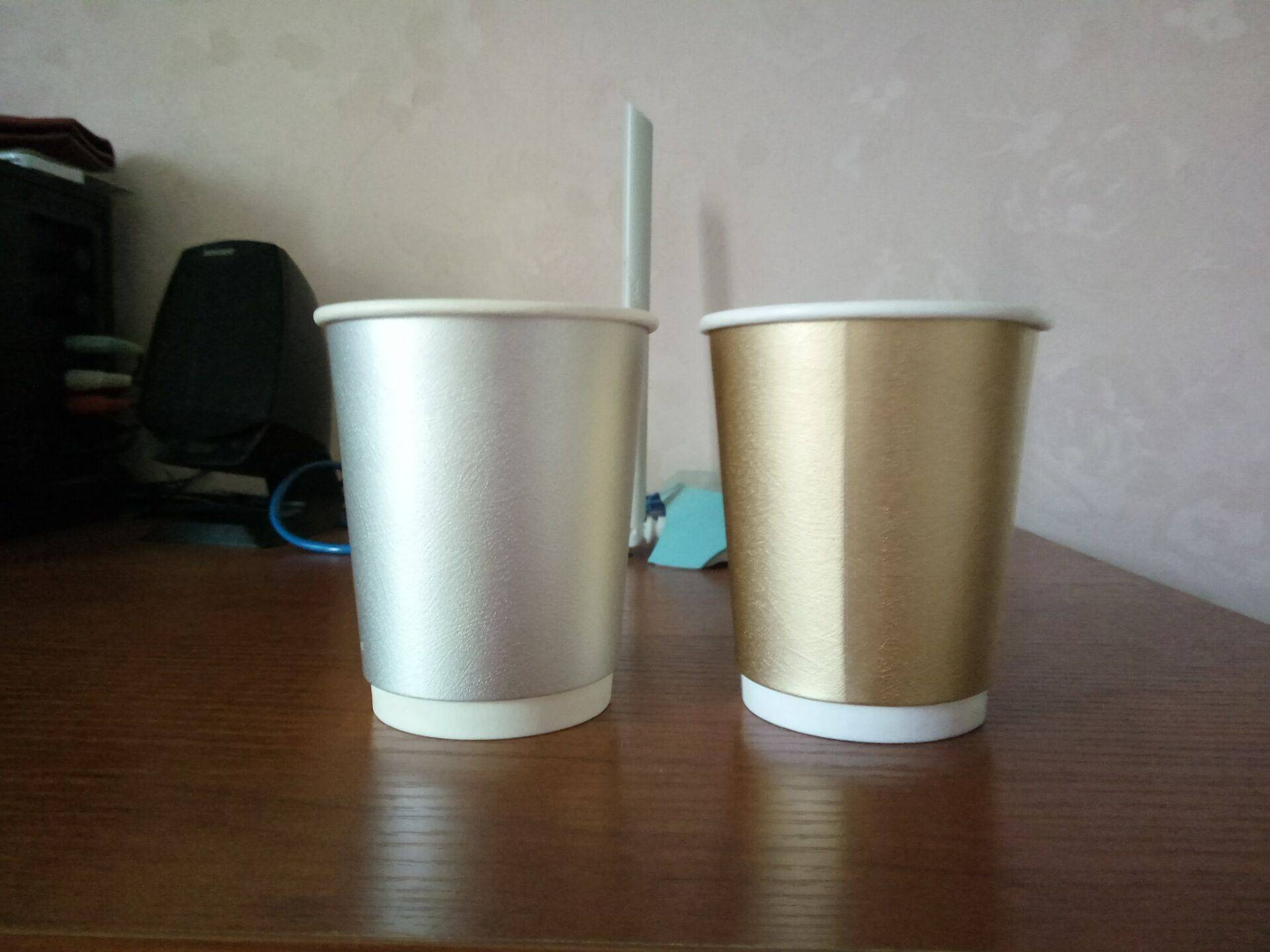 Double wall paper cup disposable usage for coffee
