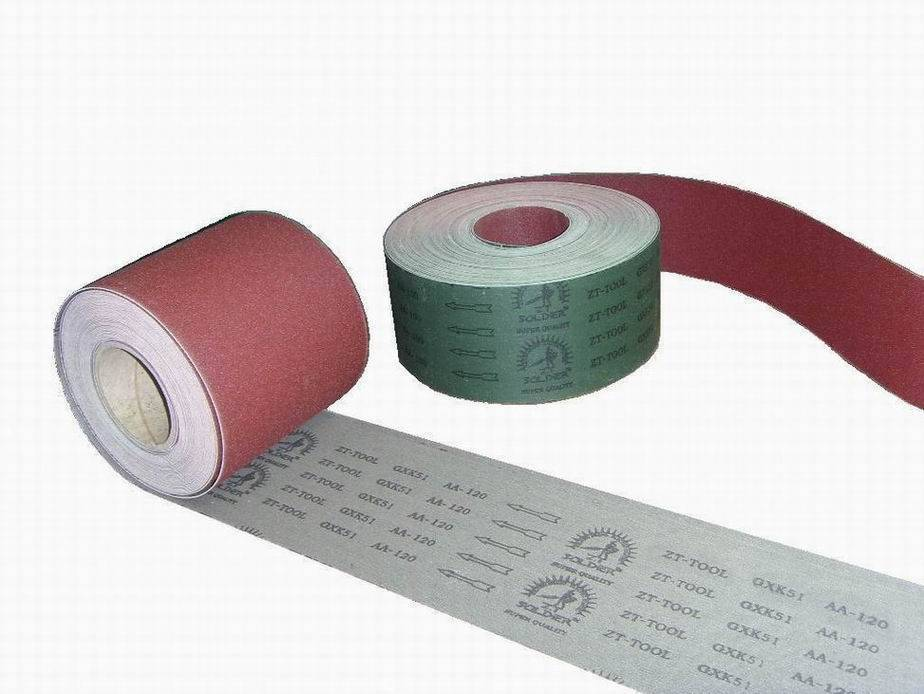 hard back abrasive cloth roll for abrasive belt