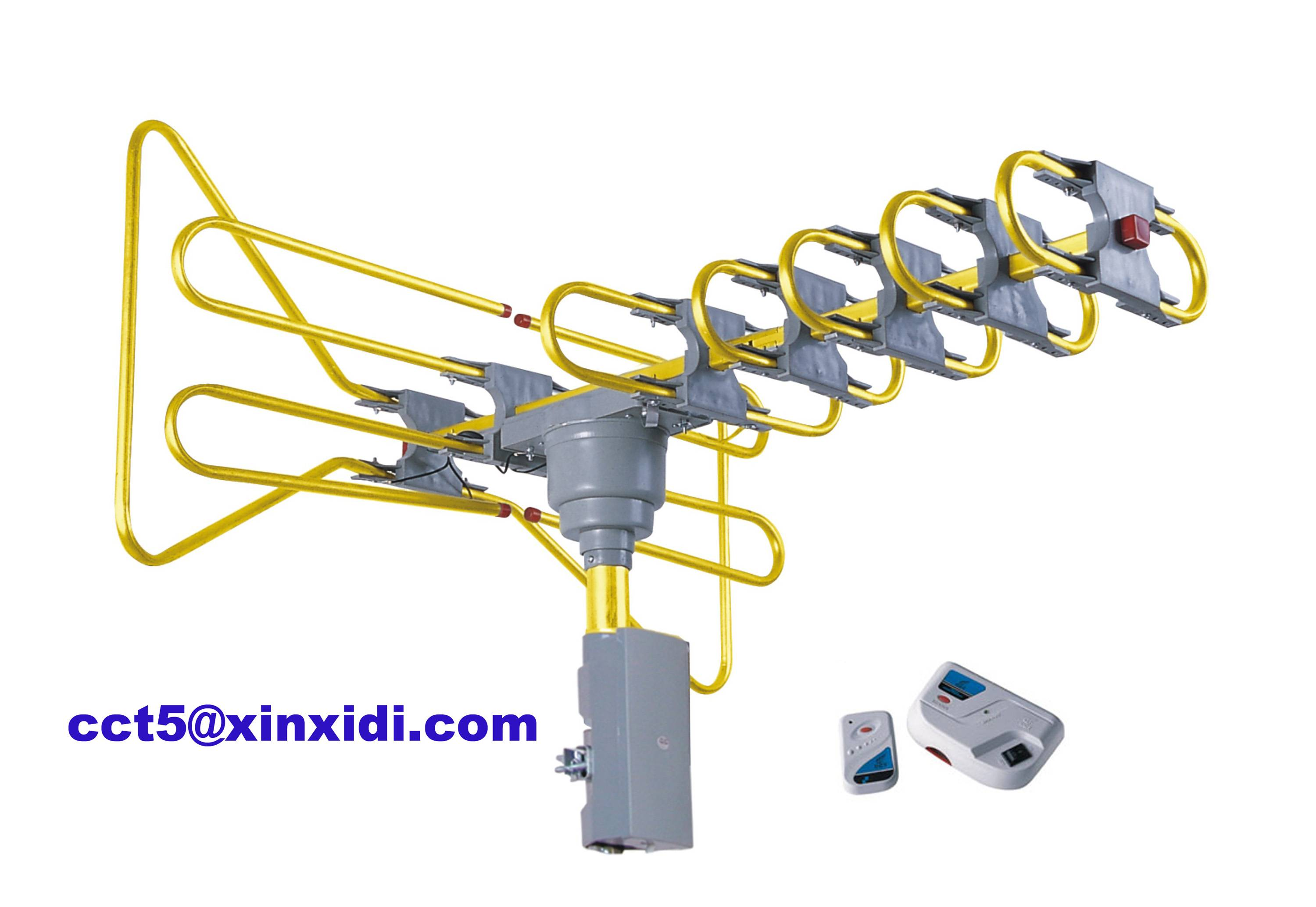 Golden Color Fix Easily Remote-controlled Rotating Outdoor TV Antenna DT-808C (Xinxidi - CCT)