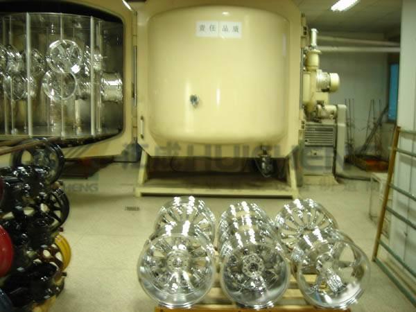 Metalizadora mediante sputtering para llantas de automovil