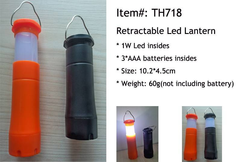2 in 1 Retractable Led Camping Light TH718