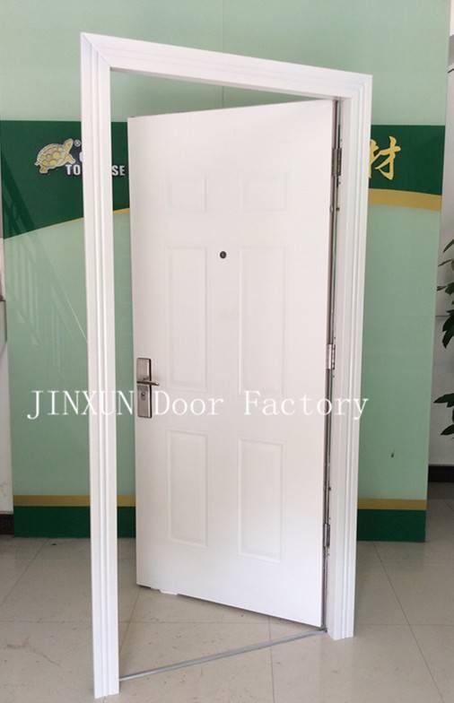 six panel steel security door