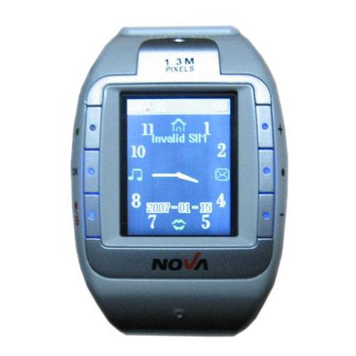 Watch Mobile Phone with 1.3MP Camera and 512M TF card(W100)
