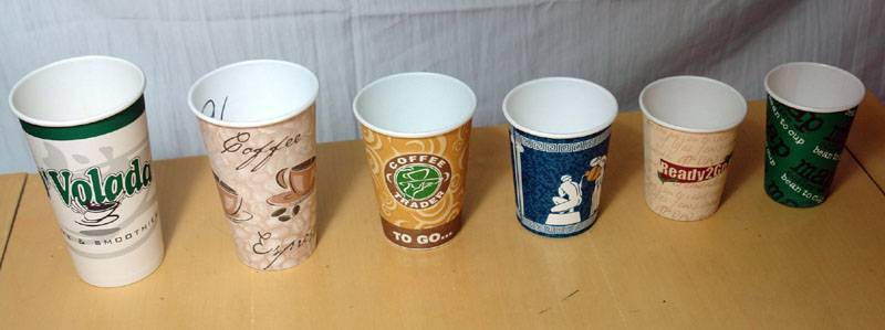 Paper cup for hot drink