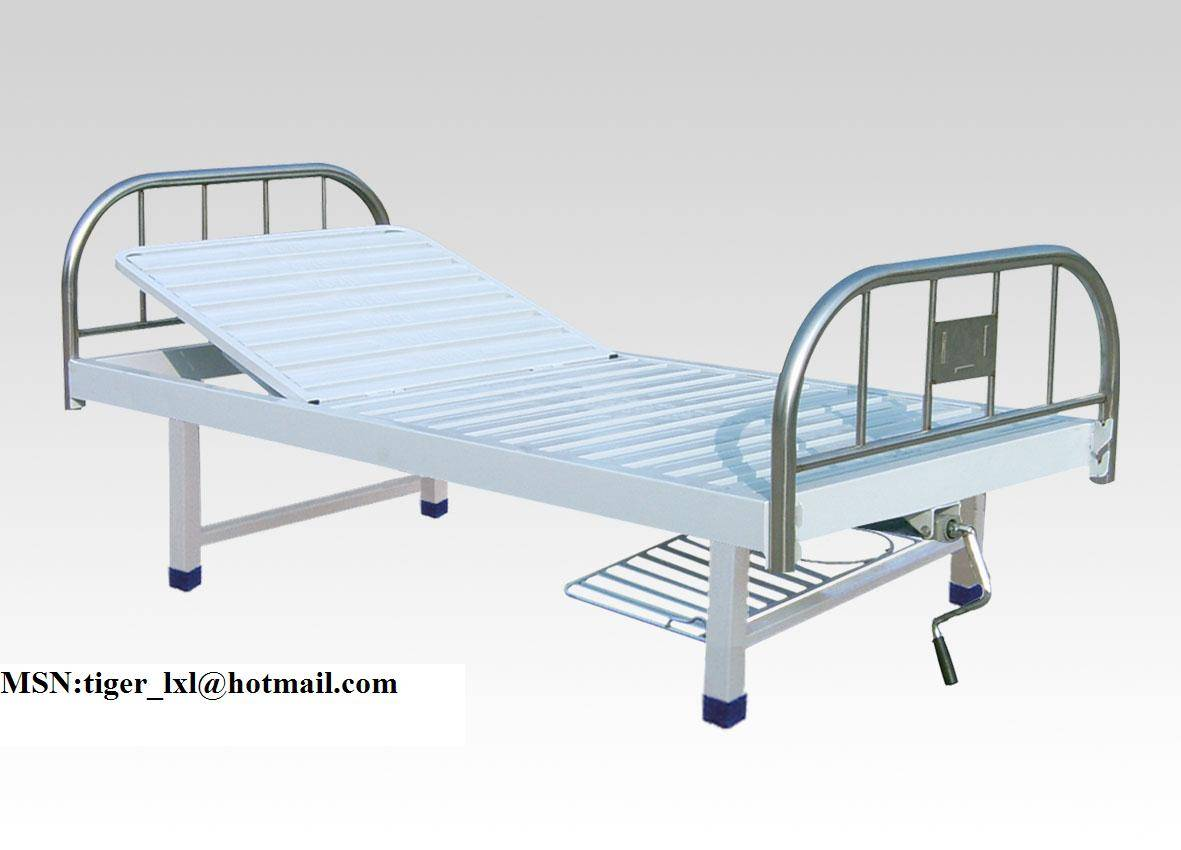 A-60 Single crank medical bed with stainless steel bed head
