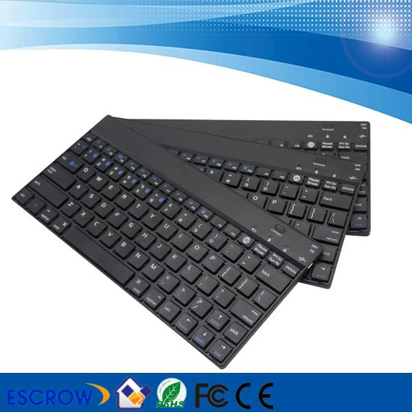 New design ultra-slim aluminum smallest bluetooth computer keyboard for tablets