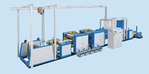 The Flexible six colors continuous printing machine