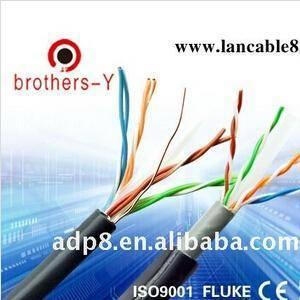 Pure copper UTP cat5e lan cables ethernet lan communication cables with waterproof PVC jacket