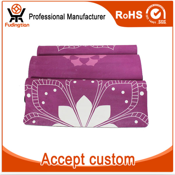FDT Private Label Sublimation Custom Digital Printed Natural Rubber Eco Yoga Mat