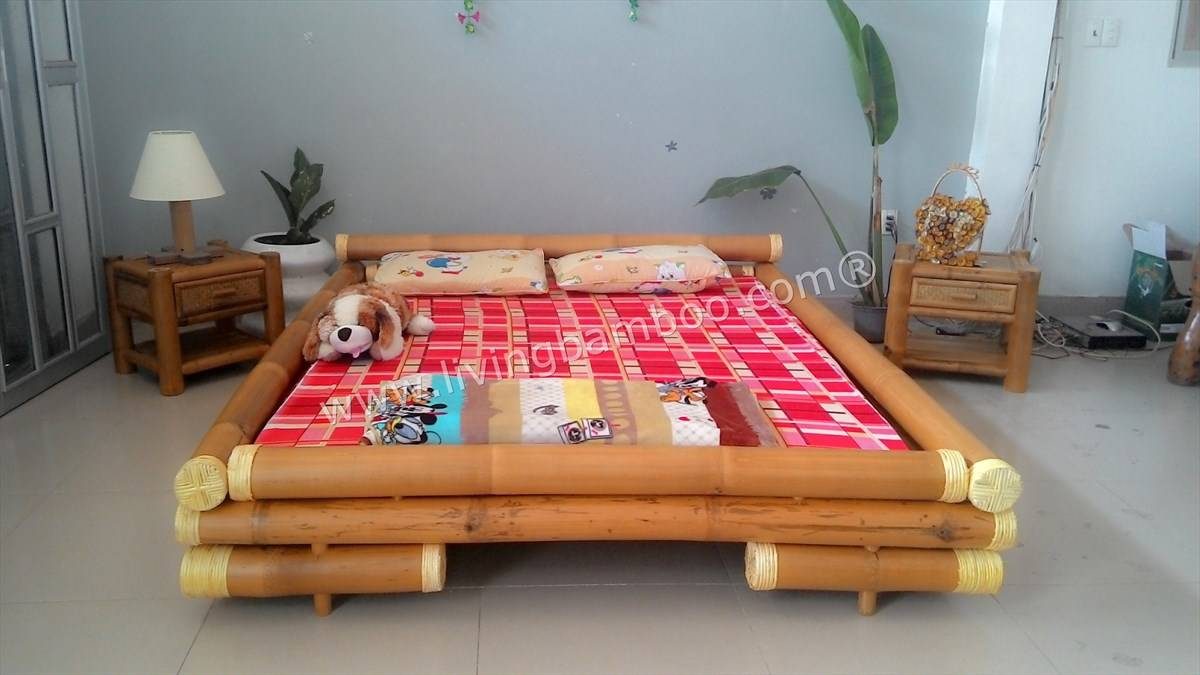 bamboo bed high quality