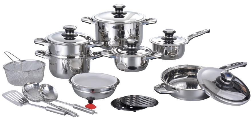 21 Pcs Royal Stainless Steel Cutlery Set Kitchen Dinnerware Set