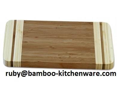 2 Tone Color Bamboo Wooden Kitchen Blocks Sandwhich Cutting Board
