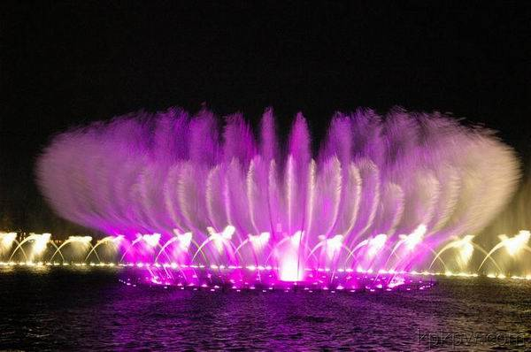 Musical spouting fountain and water curtain project of Shanghai Jinshan Seafood City