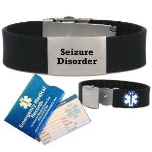 Custom Id bracelet with metal stainless steel plate