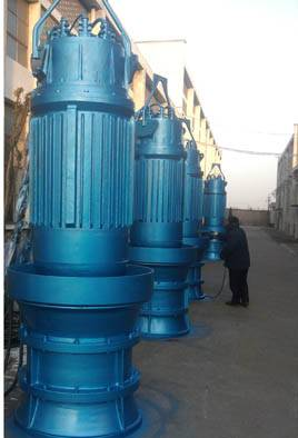 Submersible propeller pump