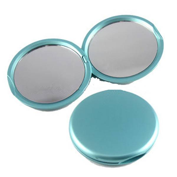 Pocket vanity mirror, round double-sided folding cosmetic mirror