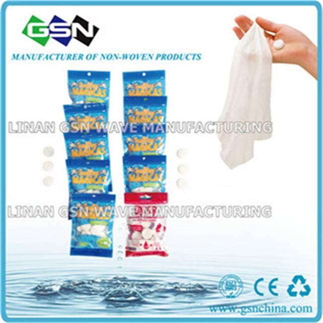 Non-woven disposable magic tissue in 4pc color bag