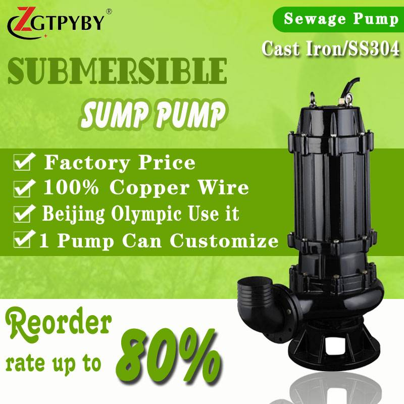 440v electric submersible pump for sludge transfered wq centrifugal submersible sewage pump