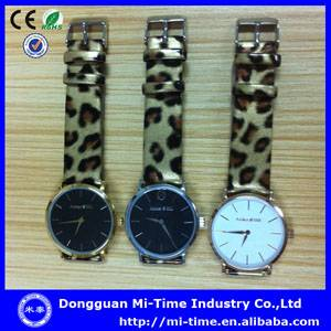 New design japan quartz movt thin watch leather wholesale