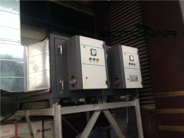 Commercial kitchen air disposal waste gas elimilation