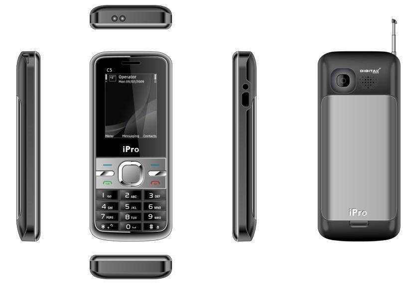 iPro Mobile Phone C5 with Legal Genuine IMEI No.