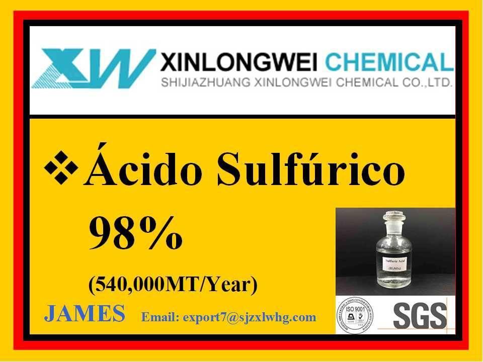98% H2SO4 ácido sulfúrico precio bajo