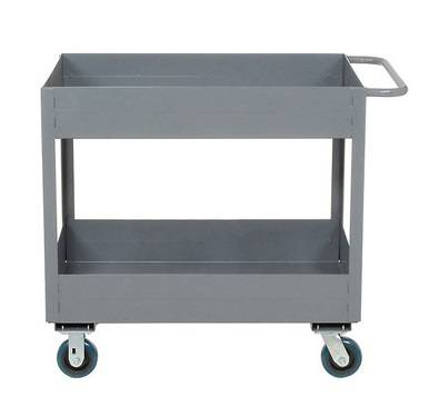 Double side-folded hand carts, metal material moving warehouse truck RCA-0212