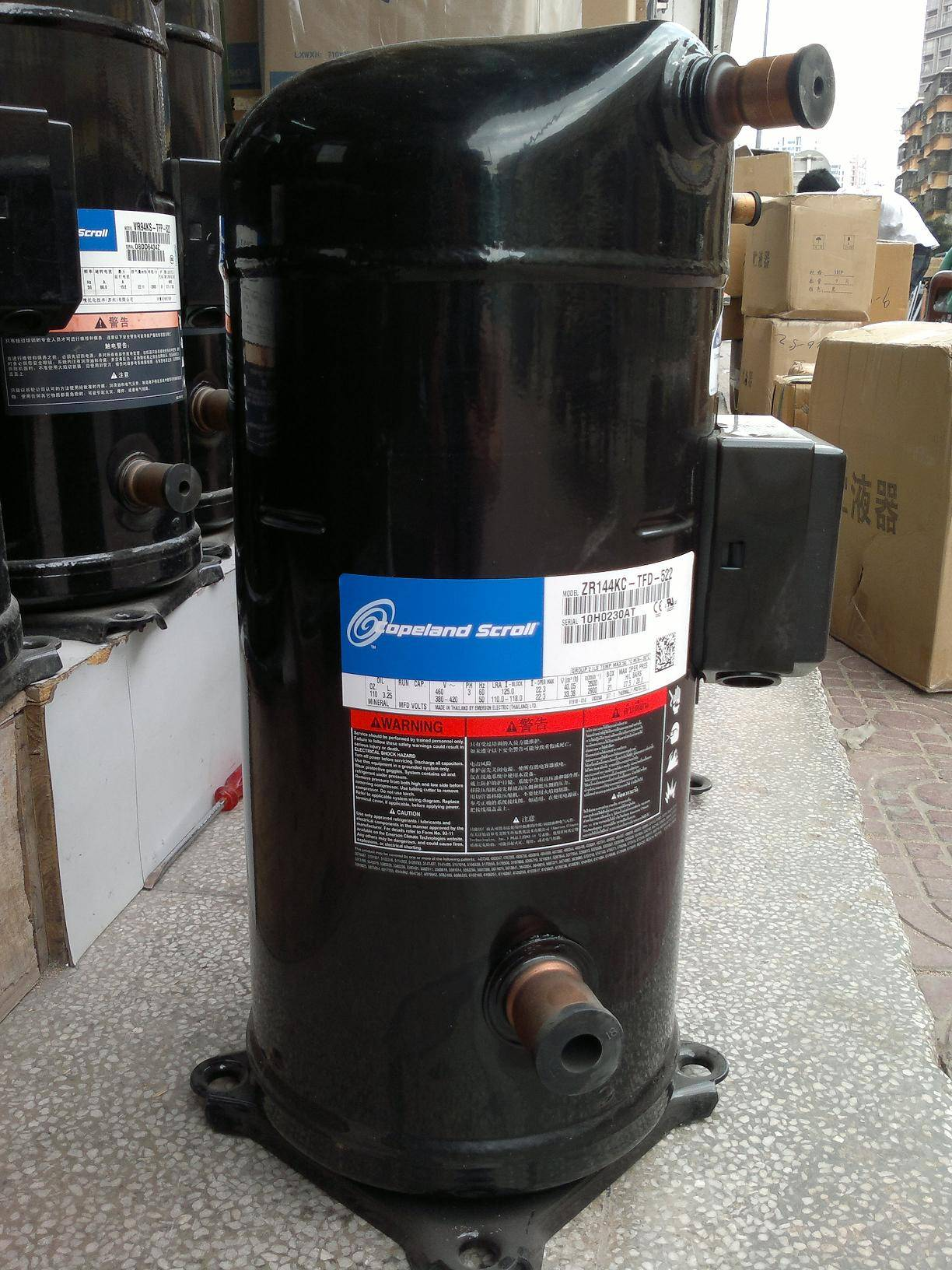 Copeland ZR series Scroll Air conditioning Compressor ZR144KC-TFD-522