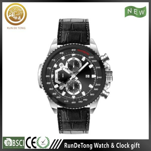 Two tone IP plating bezel screw crown water resistant 316L stainless steel watch