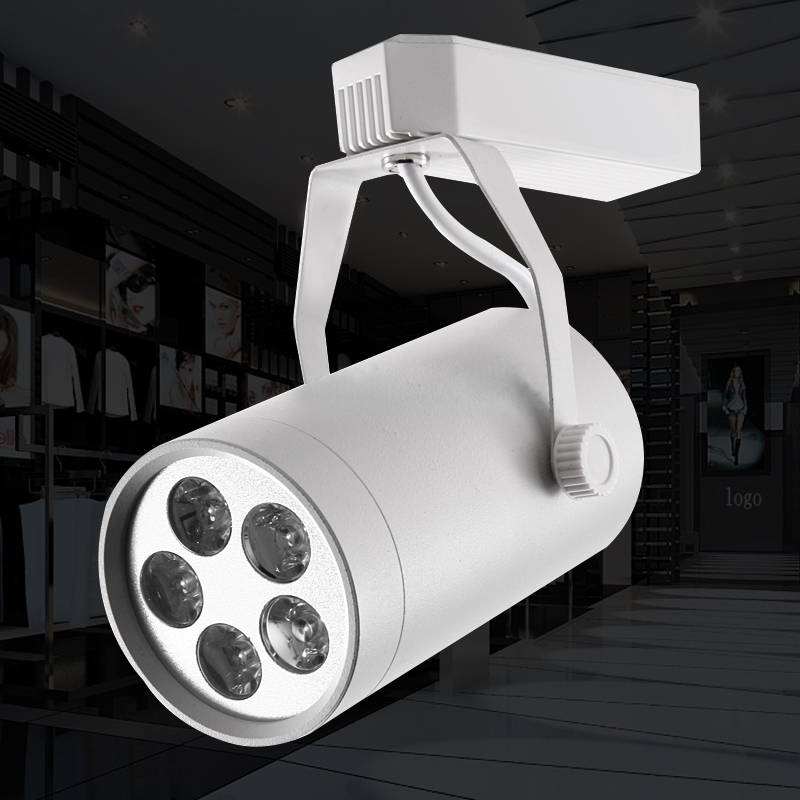 White Black CRI80 20W COB Led track Light