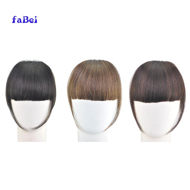 natural human hair bangs/human hair fringe/clip natural hair bangs Hair Bangs