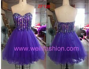 Short Beading Net Prom Dresses ZF138